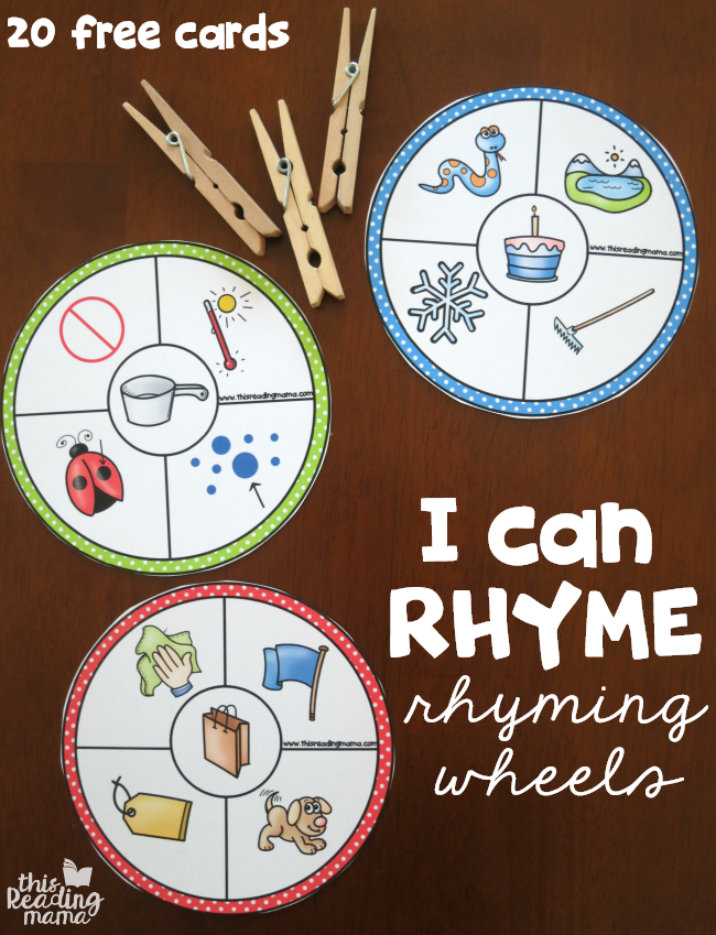 20 Free Rhyming Wheels – I Can Rhyme