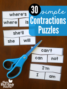 SIMPLE Contractions Puzzles