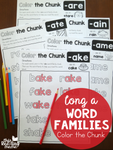 Color the Chunk – Long a Word Families