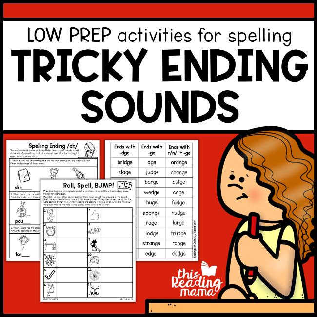 Tricky Ending Sounds Worksheets This Reading Mama