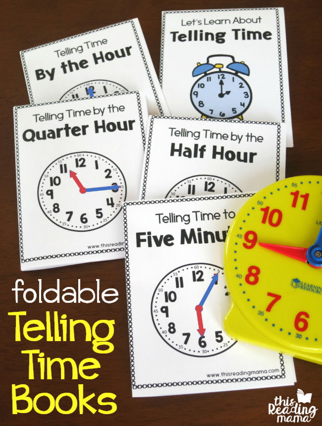 Printable Telling Time Books – Fold & Read