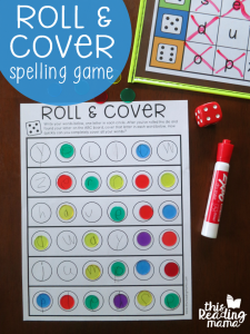 Roll & Cover Spelling Words Game