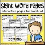 Sight Word Pages - Dolch 1 - This Reading Mama