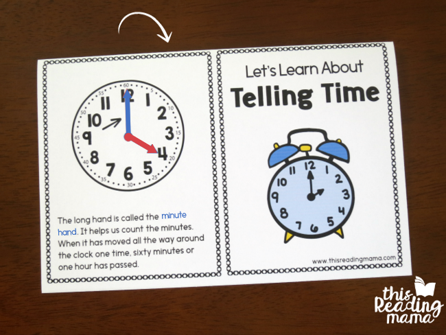 folding the printable telling time books is easy
