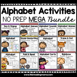 No Prep Alphabet Activities Bundle Pack