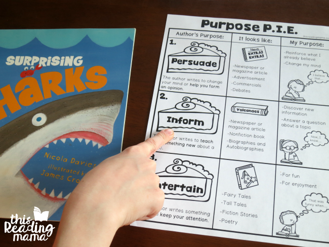 Determining the author's purpose