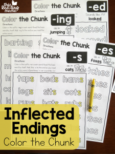 Color the Chunk – Inflected Endings Pages