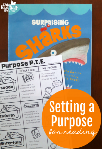 Setting a Purpose for Reading {with Freebie}