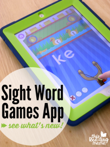 Updated Sight Word Games App
