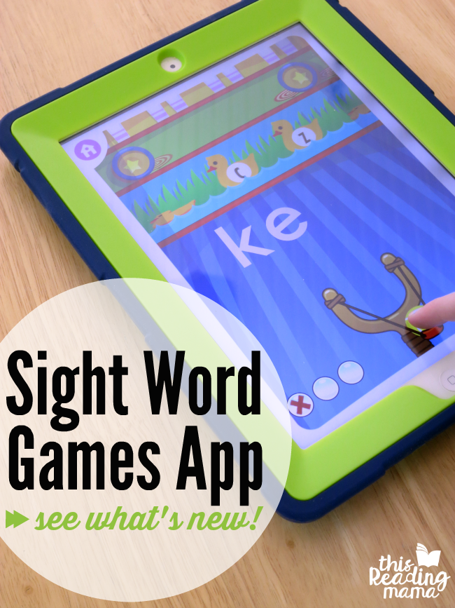 Updated Sight Word Games App - See What's New! - This Reading Mama