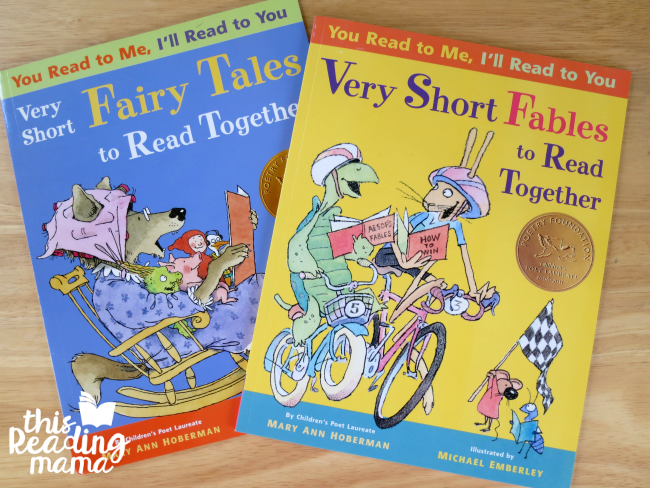 You Read to Me, I'll Read to You - books for partner reading and building fluency