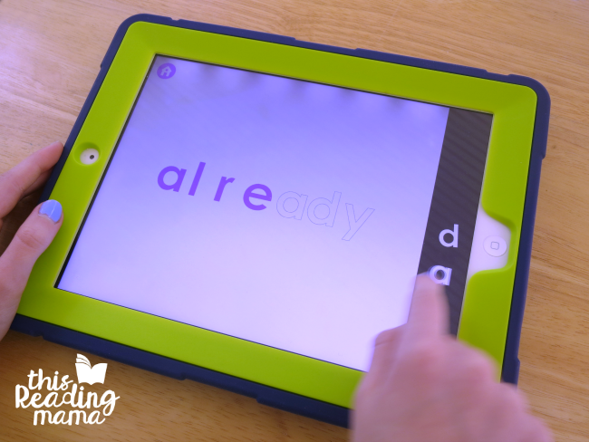 learn section of updated sight word games app