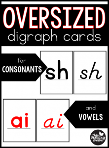 Oversized Digraph Cards {Consonants & Vowels}