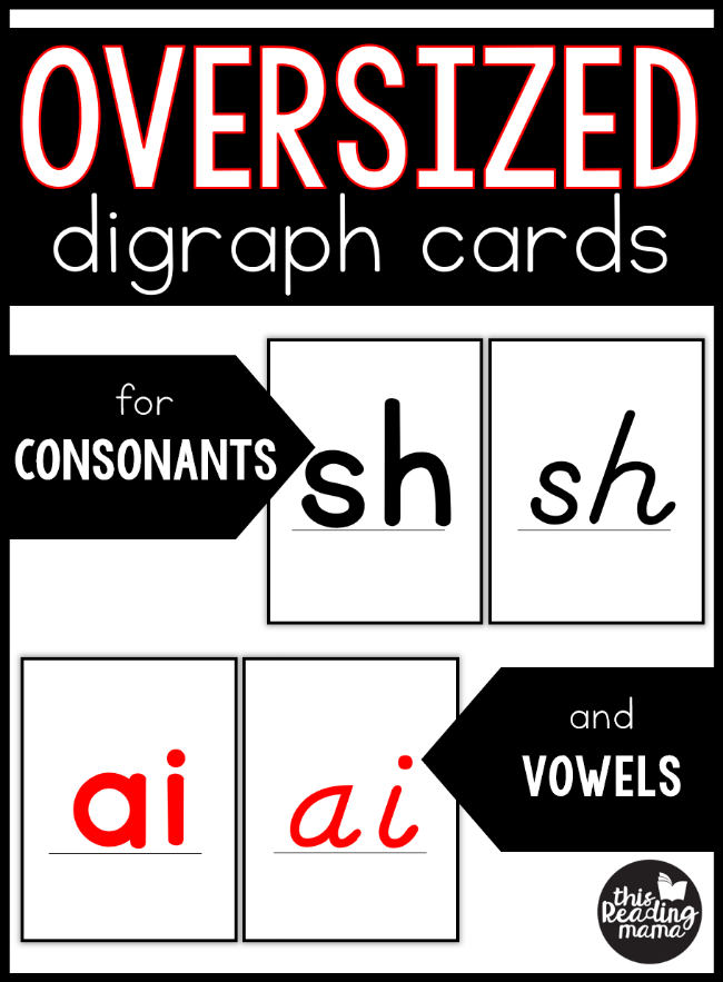 Oversized Digraph Cards for Consonants and Vowels - This Reading Mama