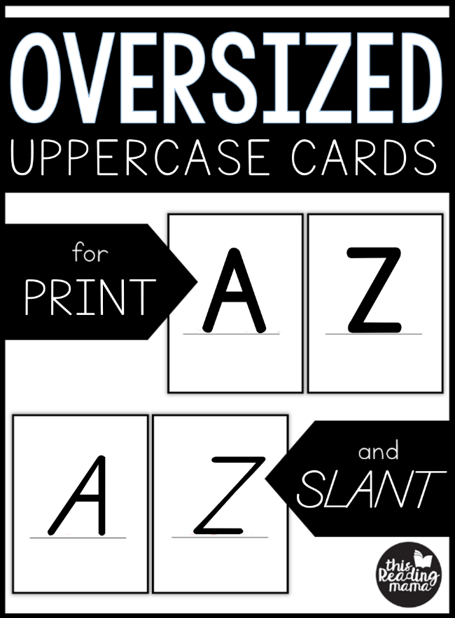 Oversized Uppercase Letter Cards - This Reading Mama