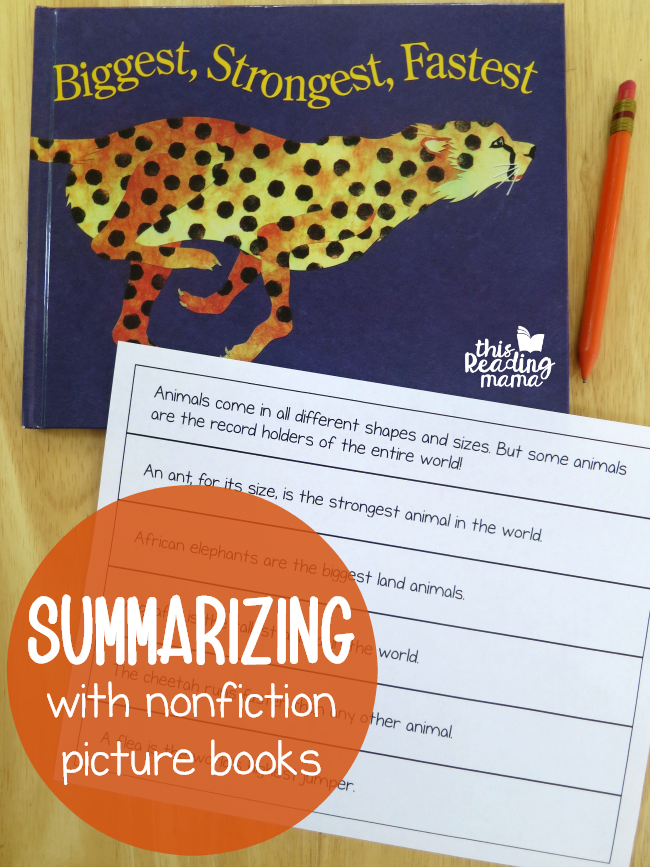 Summarizing with Nonfiction Picture Books