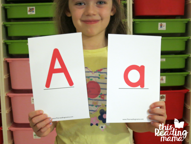 match uppercase and lowercase letters with oversized cards