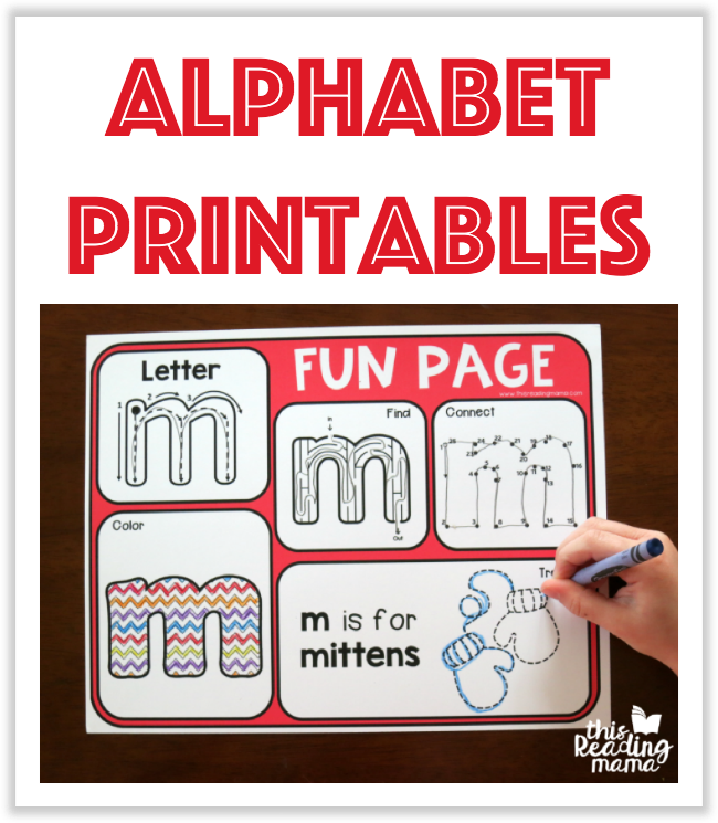 Alphabet Printables from This Reading Mama
