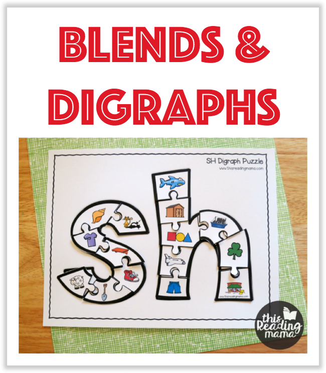 Blends and Digraphs Printables from This Reading Mama