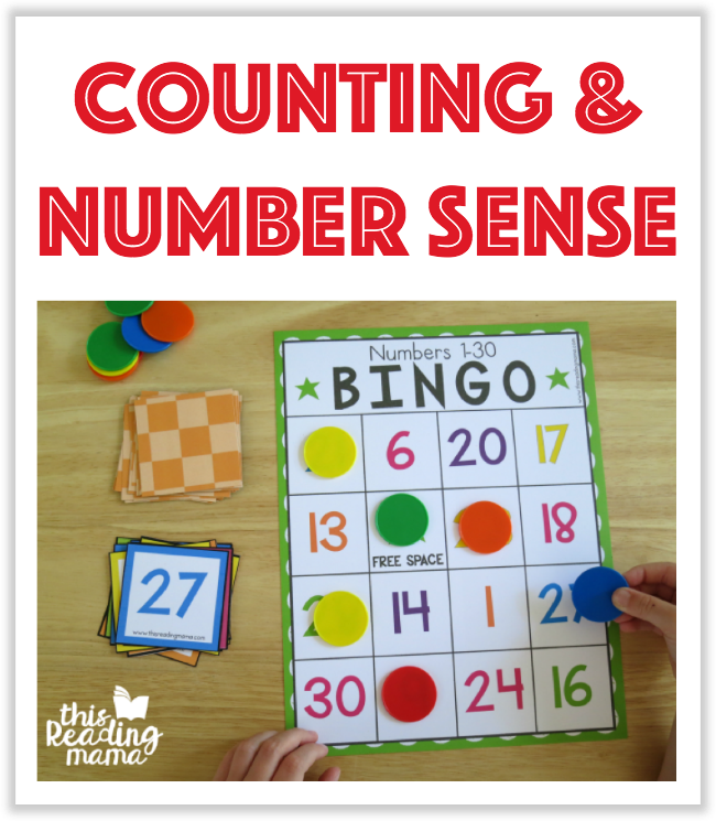 Counting and Number Sense Printables from This Reading Mama