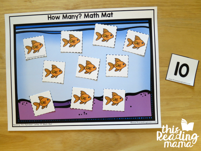 How Many? Math Mat - Count and Identify Number