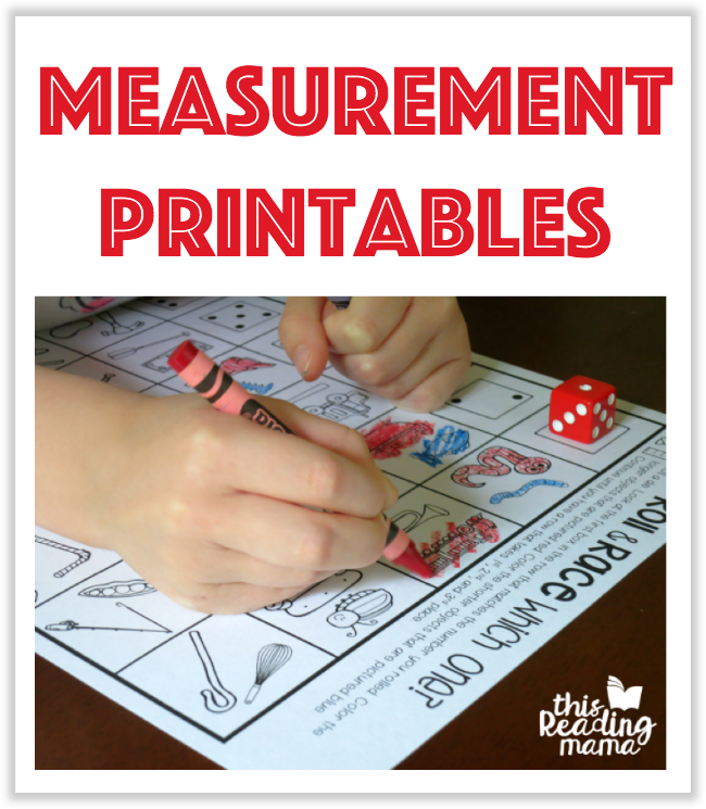 Measurement Printables from This Reading Mama