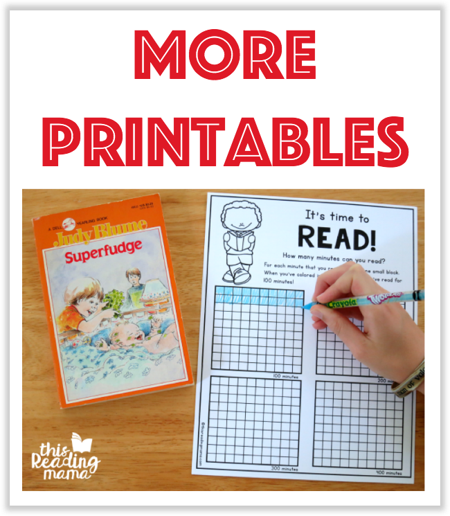 More Free Printables from This Reading Mama