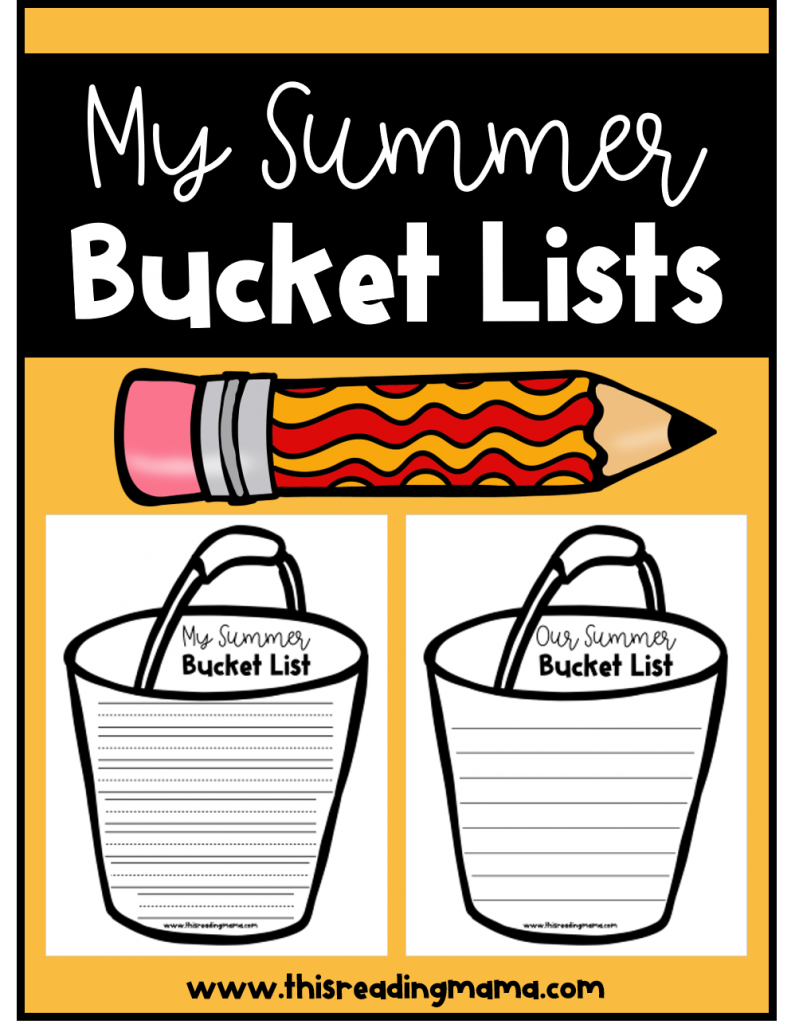 Printable Summer Bucket List - free - This Reading Mama