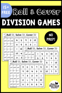 No Prep Division Games: Roll & Cover