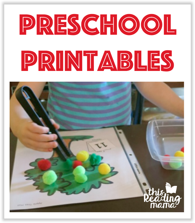 Preschool Printables from This Reading Mama