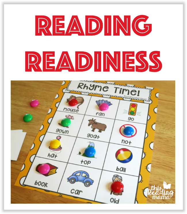 Reading Readiness Printables from This Reading Mama