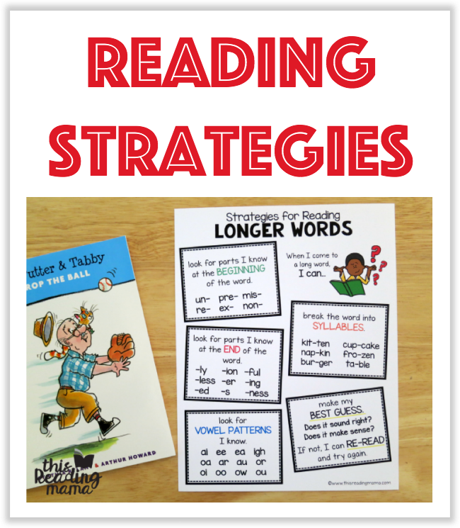 Reading Strategies Printables from This Reading Mama