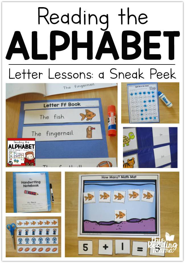 Reading the Alphabet Letter Lessons Sneak Peek - This Reading Mama