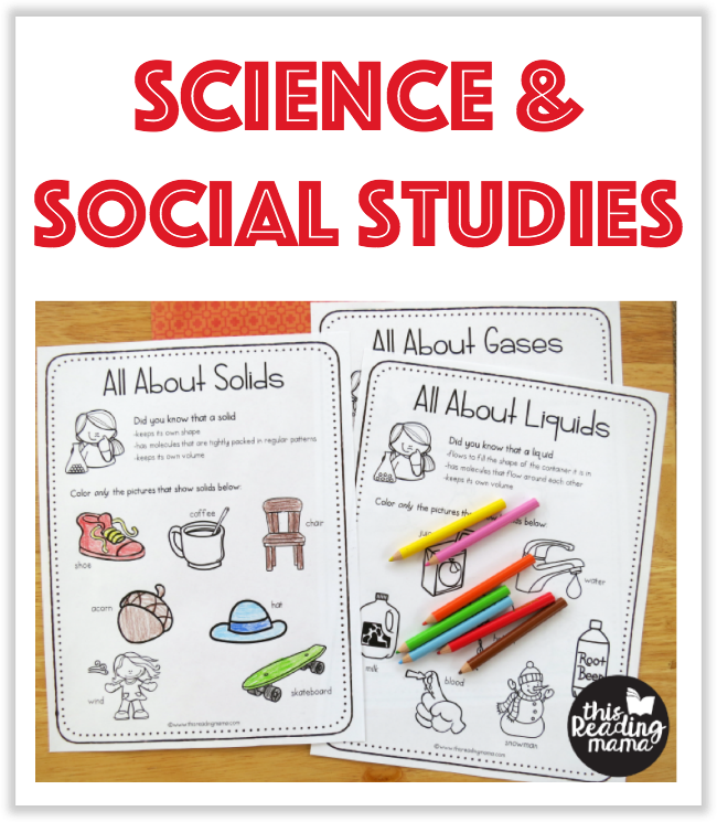 Science and Social Studies Printables from This Reading Mama