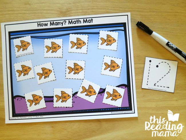 Tracing Number Cards can be used with How Many? Math Mats from Reading the Alphabet