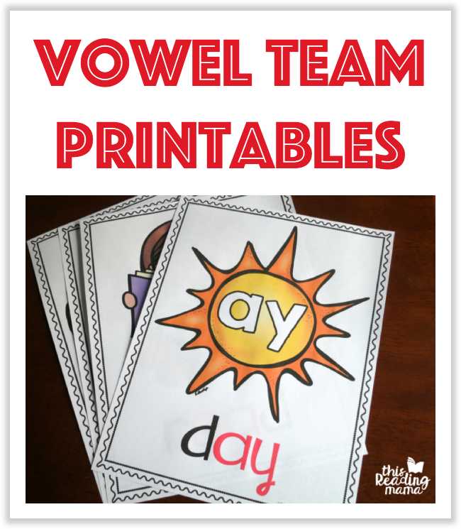 Vowel Team Printables from This Reading Mama