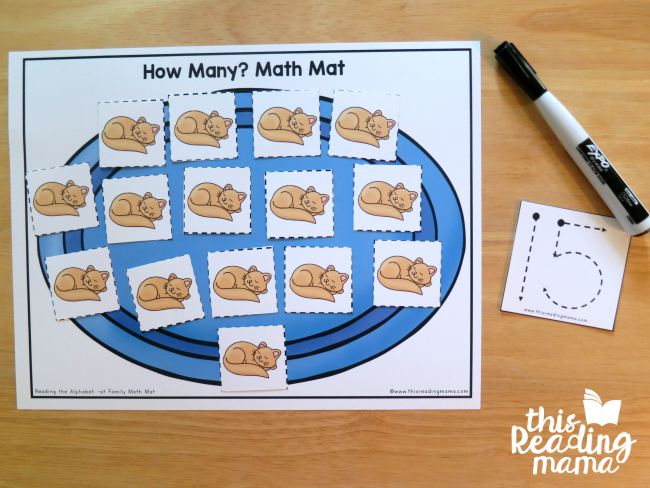 How Many? Math Mat - count and trace the number