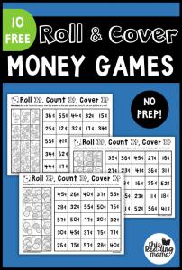 No Prep Money Games: Roll & Cover