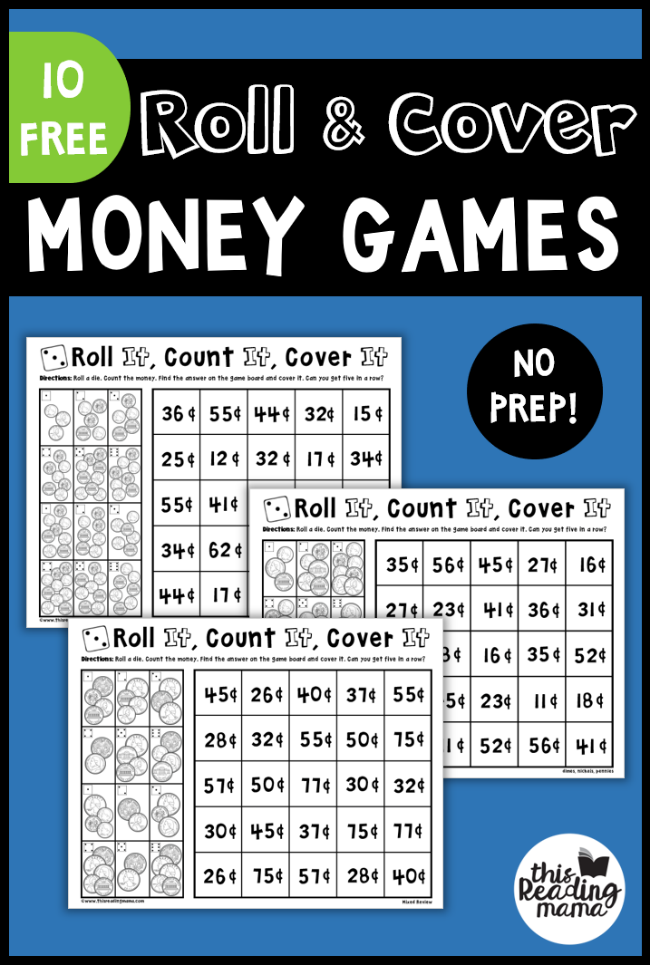 No Prep Money Games: Roll & Cover