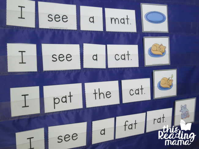 Pocket Chart Reader from Reading the Alphabet Lesson 7