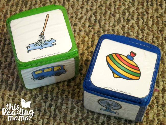 Roll-a-Rhyme Activity from Reading the Alphabet
