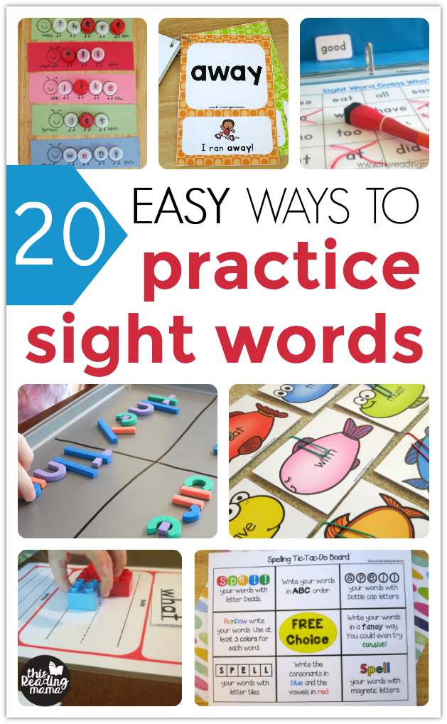 20 EASY Ways to Practice Sight Words - This Reading Mama