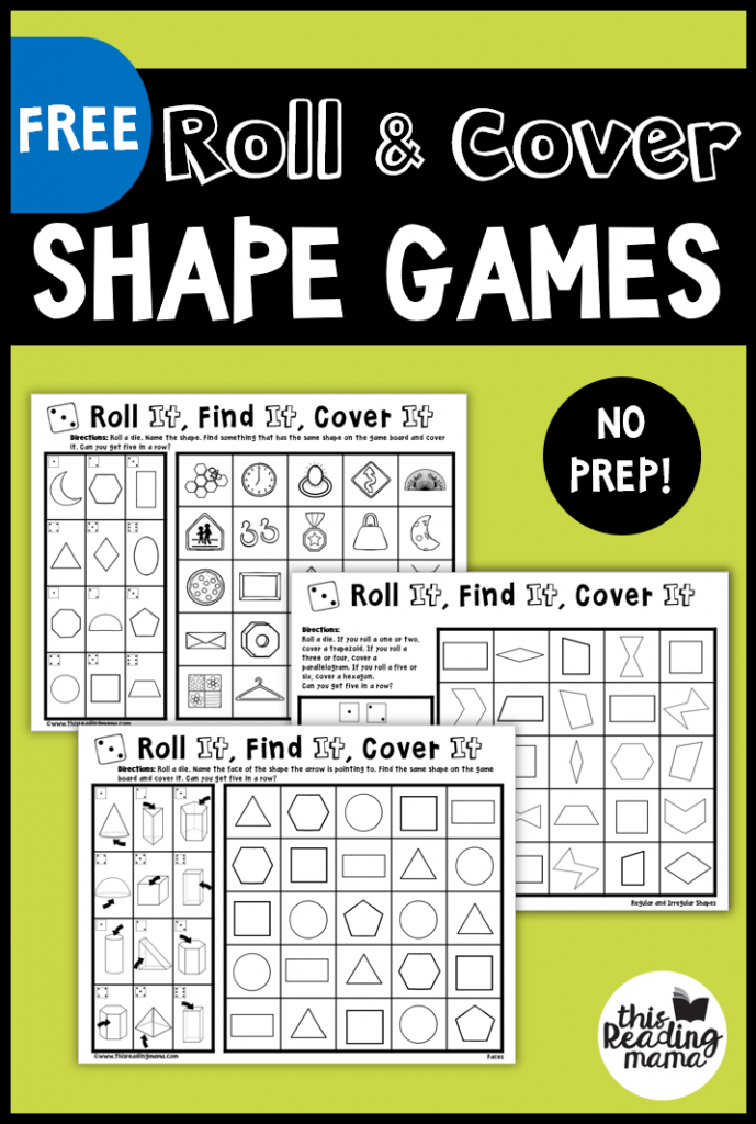 No Prep Shape Games for 2D and 3D Shapes - This Reading Mama