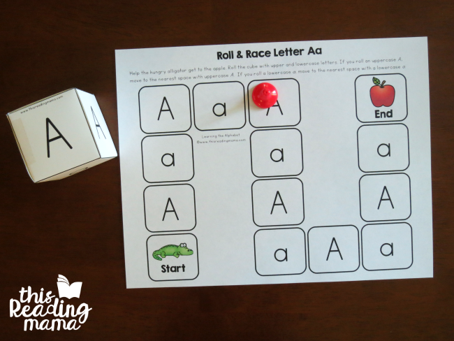 Roll and Race Letter Game Board from Learning the Alphabet