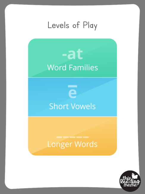 Short Vowel Sorting App - levels of play