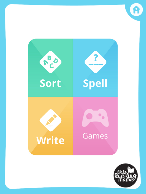 Sort, Spell, Write, or Play Games from Short Vowel Sorting App