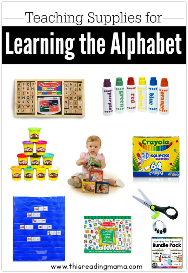 Teaching Supplies Needed for Learning the Alphabet from This Reading Mama