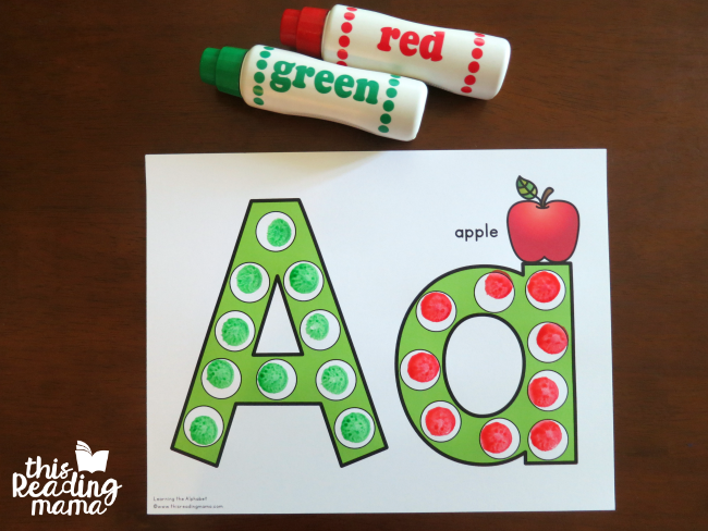 alphabet dot pages for uppercase and lowercase letters