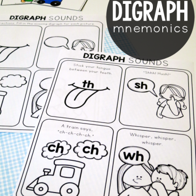 Digraph Mnemonics Pages {free!}