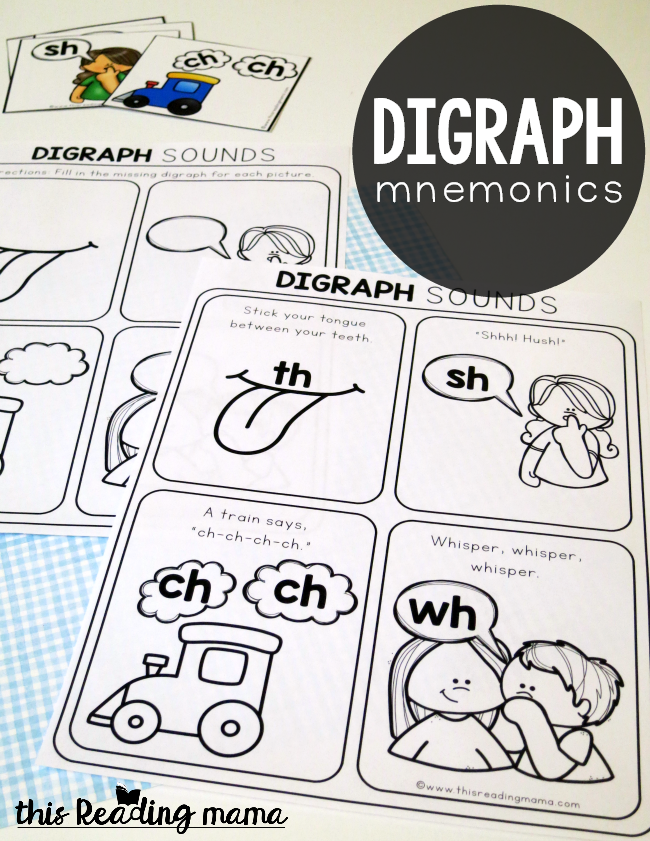 Digraph Mnemonics Pages from This Reading Mama